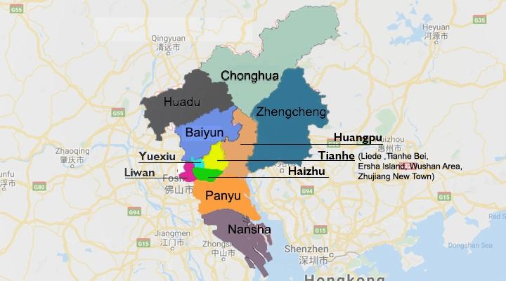 Guangzhou District Map